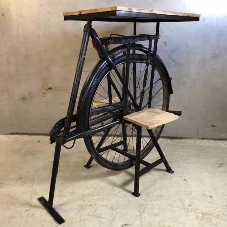 Fahrrad Tisch Mango Holz 2 Ablagen Konsolentisch 100 cm