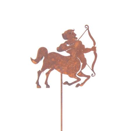 Metall Schütze Sternzeichen Symbol Gartenstecker