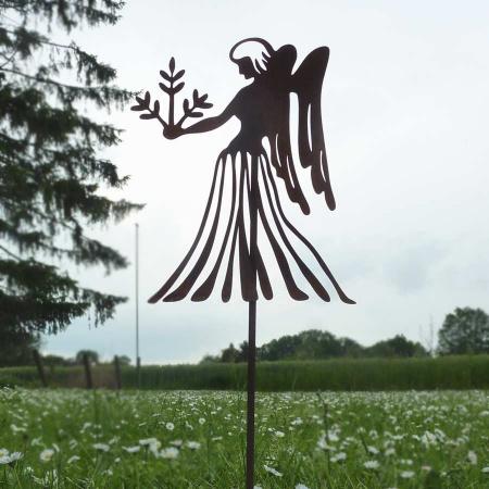 Deko Sternzeichen Jungfrau Metall Figur Bodenstecker