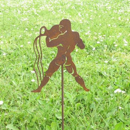 Sternzeichen Symbol Wassermann Metall Deko Gartenstecker