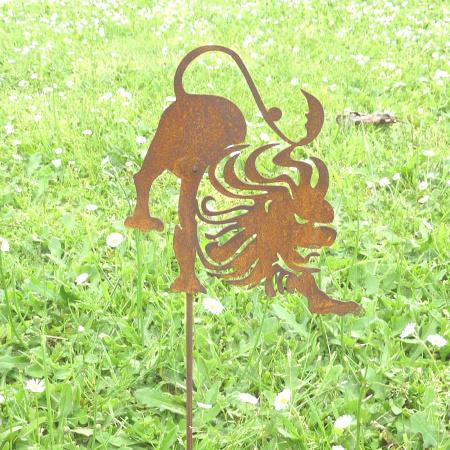 Deko Sternzeichen Löwe Symbol Gartendeko Metall