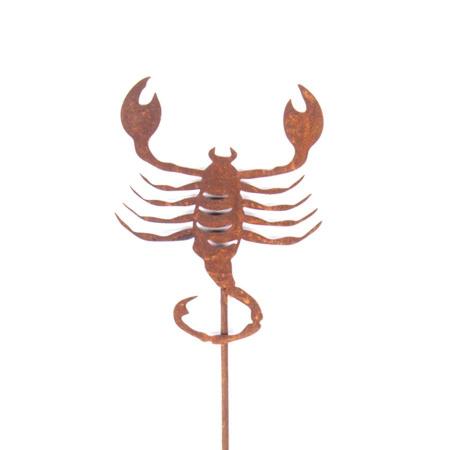 Sternzeichen Skorpion Dekofigur Metall Gartenstecker Rost