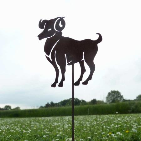 Metall Widder Sternzeichen Symbol Gartenstecker