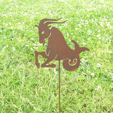 Sternzeichen Steinbock Metall Gartenstecker Rost Deko