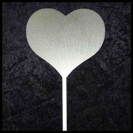 grosses Herz aus Edelstahl