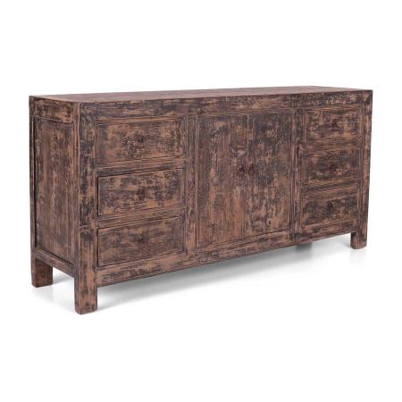 Kiefer Holz Sideboard Shabby Chic 6 Schubladen 180 cm