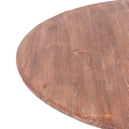 Weintisch rund Teak Holz rustikal 100 cm