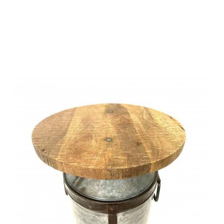 Beistelltisch alte Milchkanne Holz Metall 66 cm