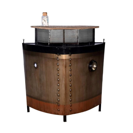 Schiffsbug Bar Titanic Vintage Metall rostfarbig 100 cm