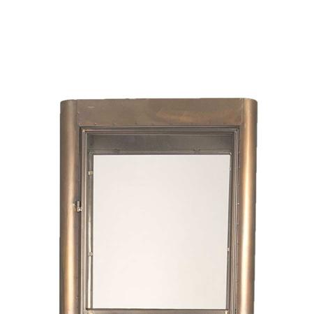 Metall Vitrine Vintage braun Glastür 170 cm