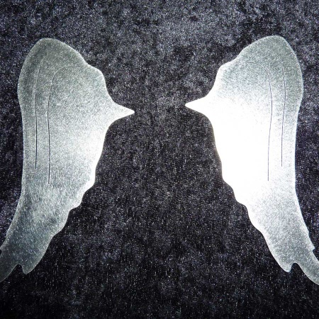 Engelflügel Kerze Edelstahl Zweiteiler gross