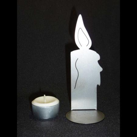 Deko Kerze Metall für Teelicht