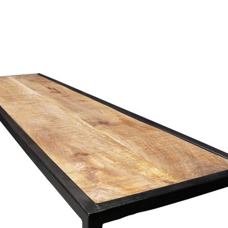 Holz Konsolen Tisch 3er Set industrial Metallgestell
