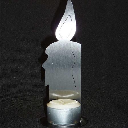 Kerze Edelstahl für Teelicht