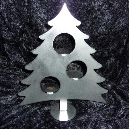 Metall Tannenbaum Teelicht Edelrost