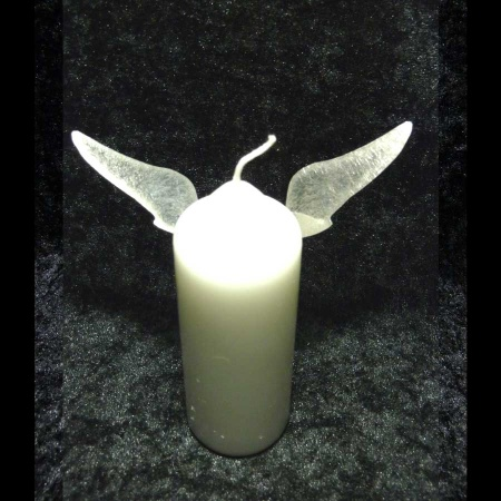 Engelsflügel Edelstahl Kerze Einteiler