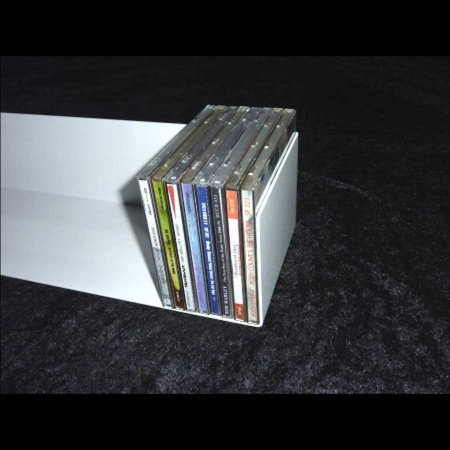CD Hängeregal pulverbeschichtet weiss