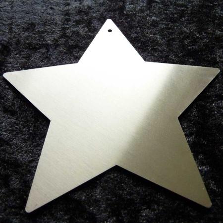 Stern XL Edelstahl mit Loch
