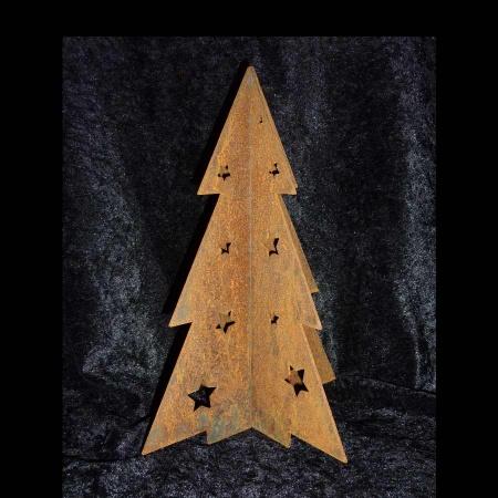 Tannenbaum Stahl mit Edelrost