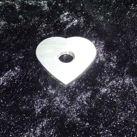 Ringaufsatz Herz Edelstahl