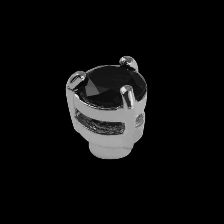 Ringtop rund mit schwarzem Zirkona für Schraubsystem