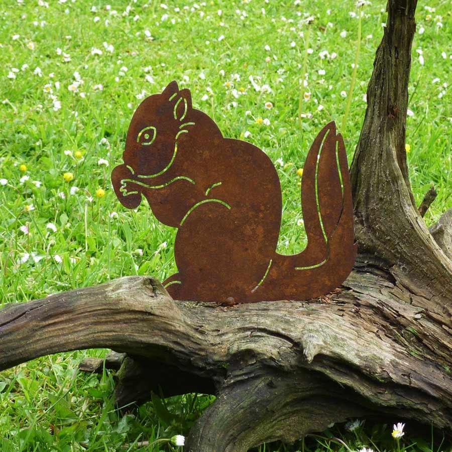 gartenfigur stahl eichhörnchennuss kaufen artalleede