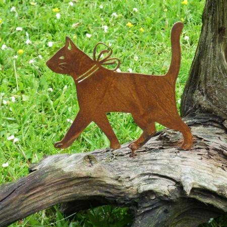 Katze aus Metall Deko Edelrost
