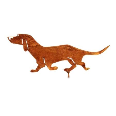 Dekohund Dackel aus Metall