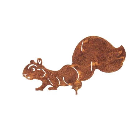Laufendes Eichhörnchen Metalldeko