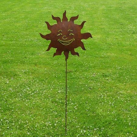 Lachende Metall Sonne