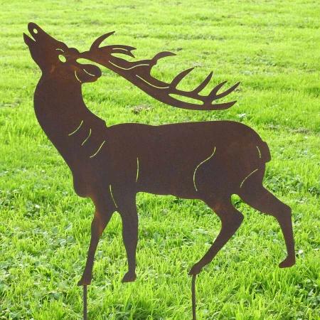 Hirsch als Garten Stahl Tierfigur