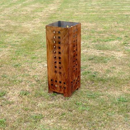 Design Feuerkorb aus Stahl