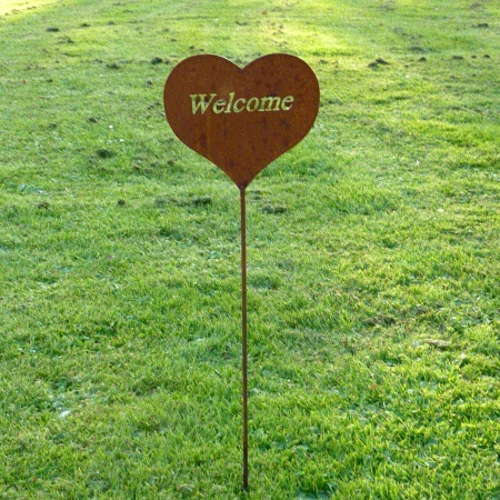 Dekoherz Welcome mit 100 cm Gartenstecker