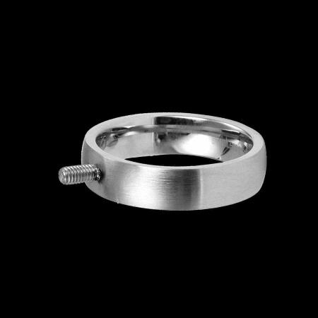 Edelstahl Basisring 6 mm Schraubsystem Gr. 60