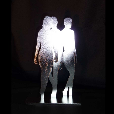 Versammlung - Edelstahl Kunst als Gebrauchsdesign glasperlgestrahlt