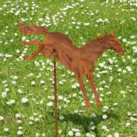 Springendes Pferd mit Gartenstecker 100 cm