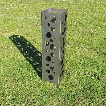 Design Feuerkorb Metall mir runden Ausschnitten