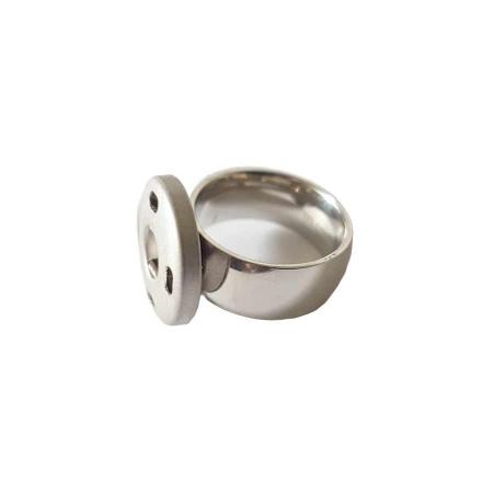 Edelstahl Ring 8mm Druckknopf System Gr. 54