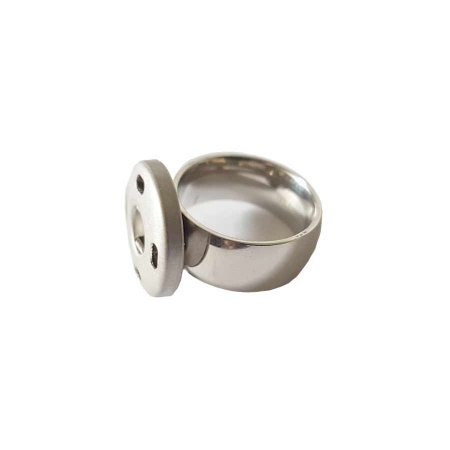 Edelstahl Ring 8mm Druckknopf System Gr. 52