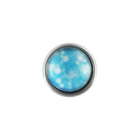 Druckknopf Small Size blauweiss himmlisch