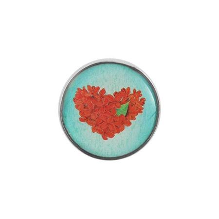 Druckknopf Aufsatz Top Herz rot grün