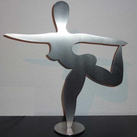 Figur Tänzerin aus Edelstahl