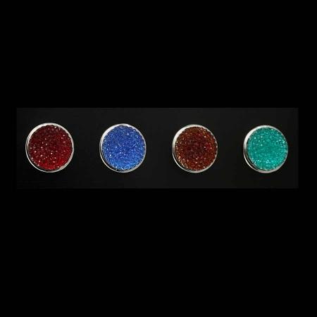 Druckknopf Aufsatz Top 6mm hoch in 4 Farben