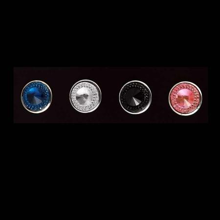 Druckknopf Aufsatz Top 6mm hoch 18mm breit in 4 Farben