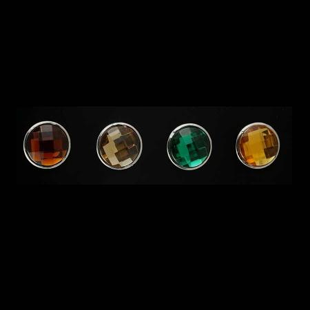 Druckknopf Aufsatz Top 4mm hoch in 4 Farben