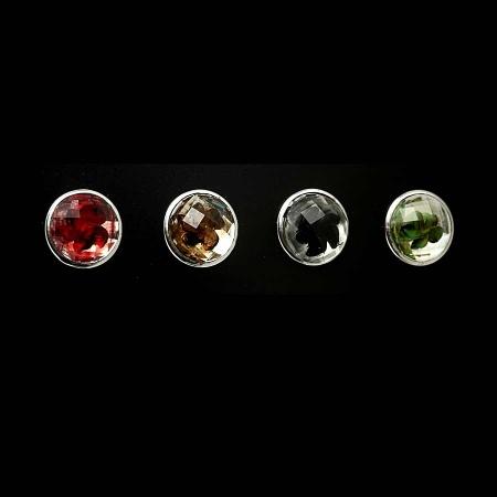 Druckknopf Aufsatz Top 5mm hoch mit eingelassener Blume in 4 Farben