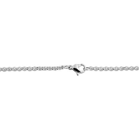 Damen Erbs Halskette Edelstahl 60 cm feine Kettenstärke 2 mm
