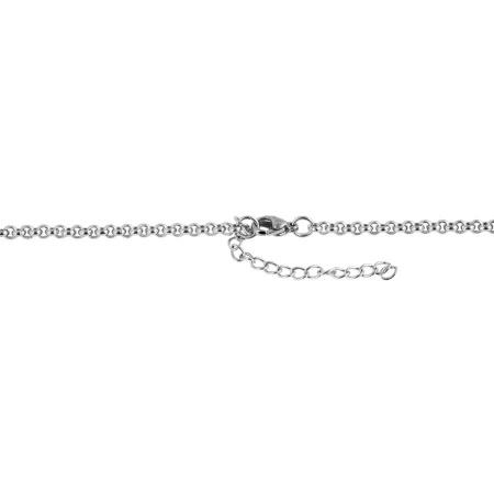 Damen Erbskette Edelstahl 60 cm feine Kettenstärke 3 mm