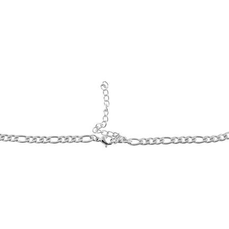 Edelstahl Damen Figarokette 70 cm