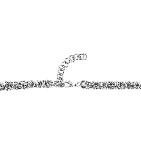 Edelstahl Halskette Damen 45 cm Kettenstärke 7 mm